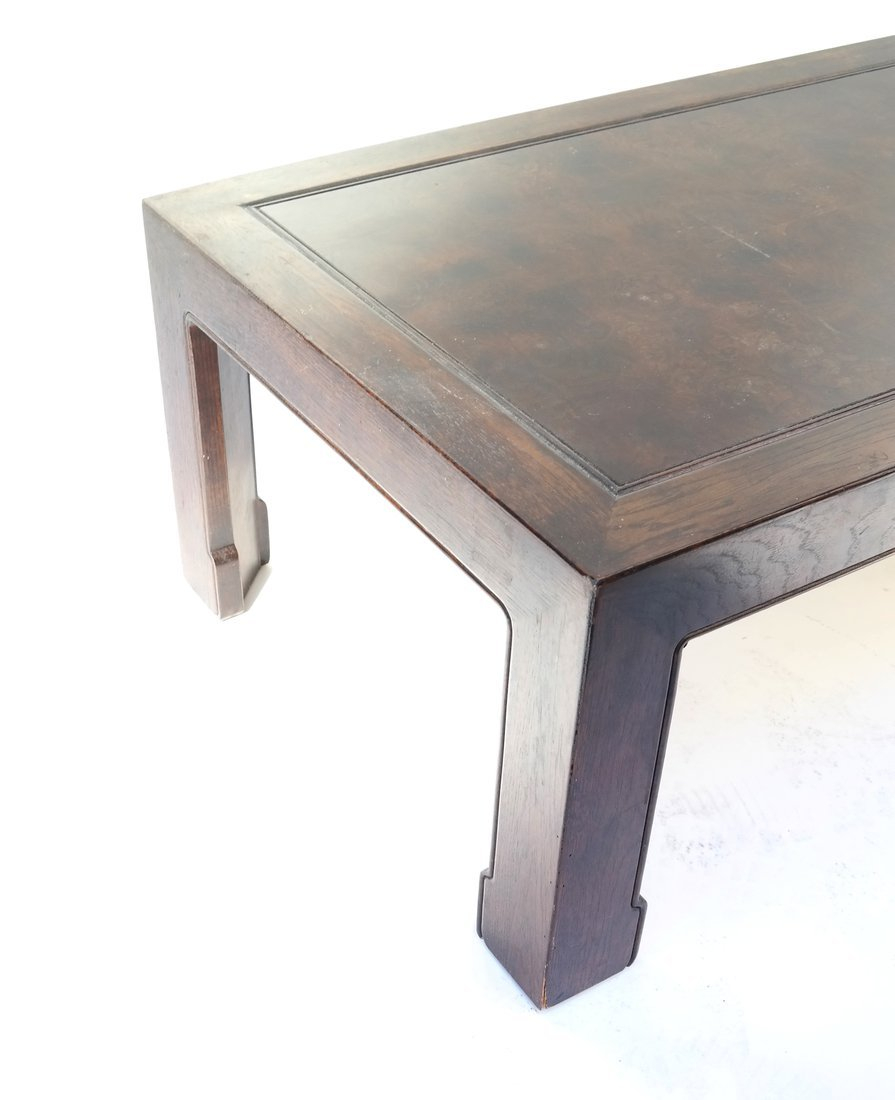 Chinese Style Burlwood and Oak Low Table - 4