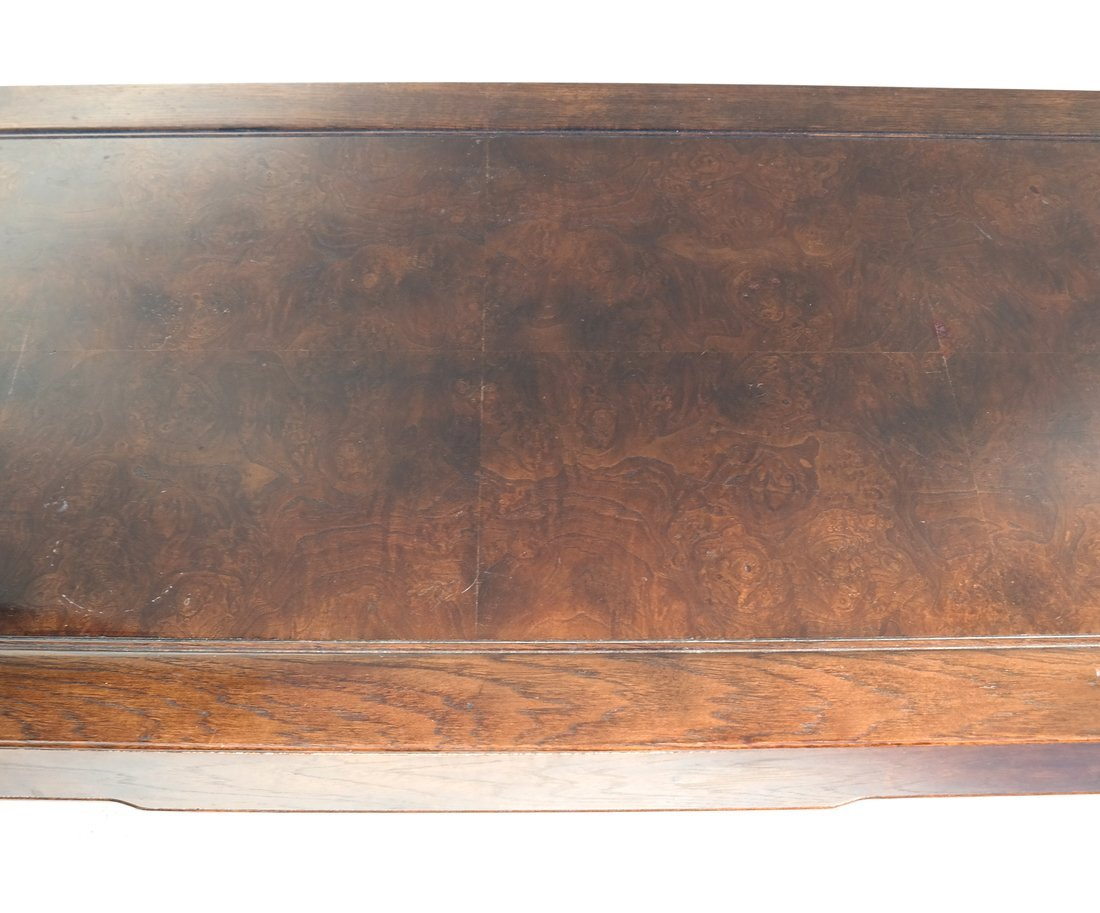 Chinese Style Burlwood and Oak Low Table - 5