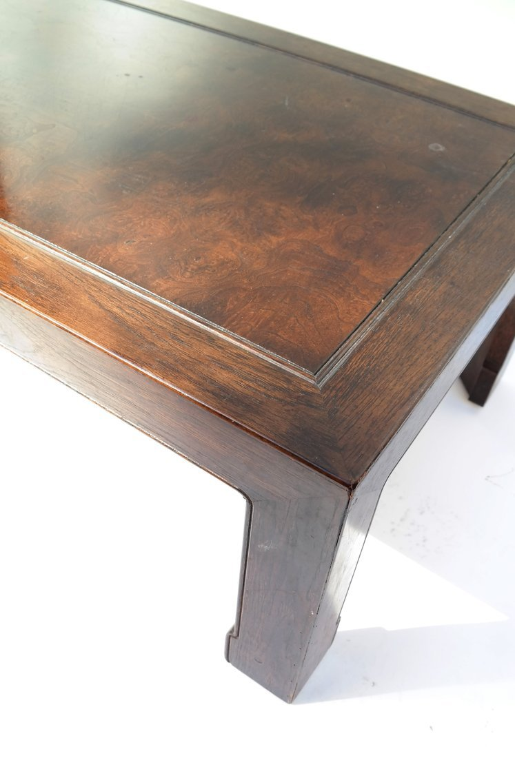 Chinese Style Burlwood and Oak Low Table - 6