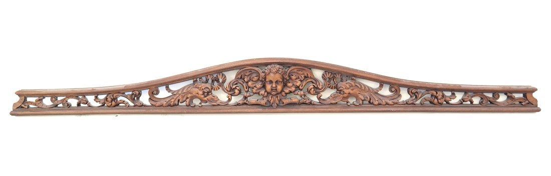 Baroque Style Pierced Shaped Transom