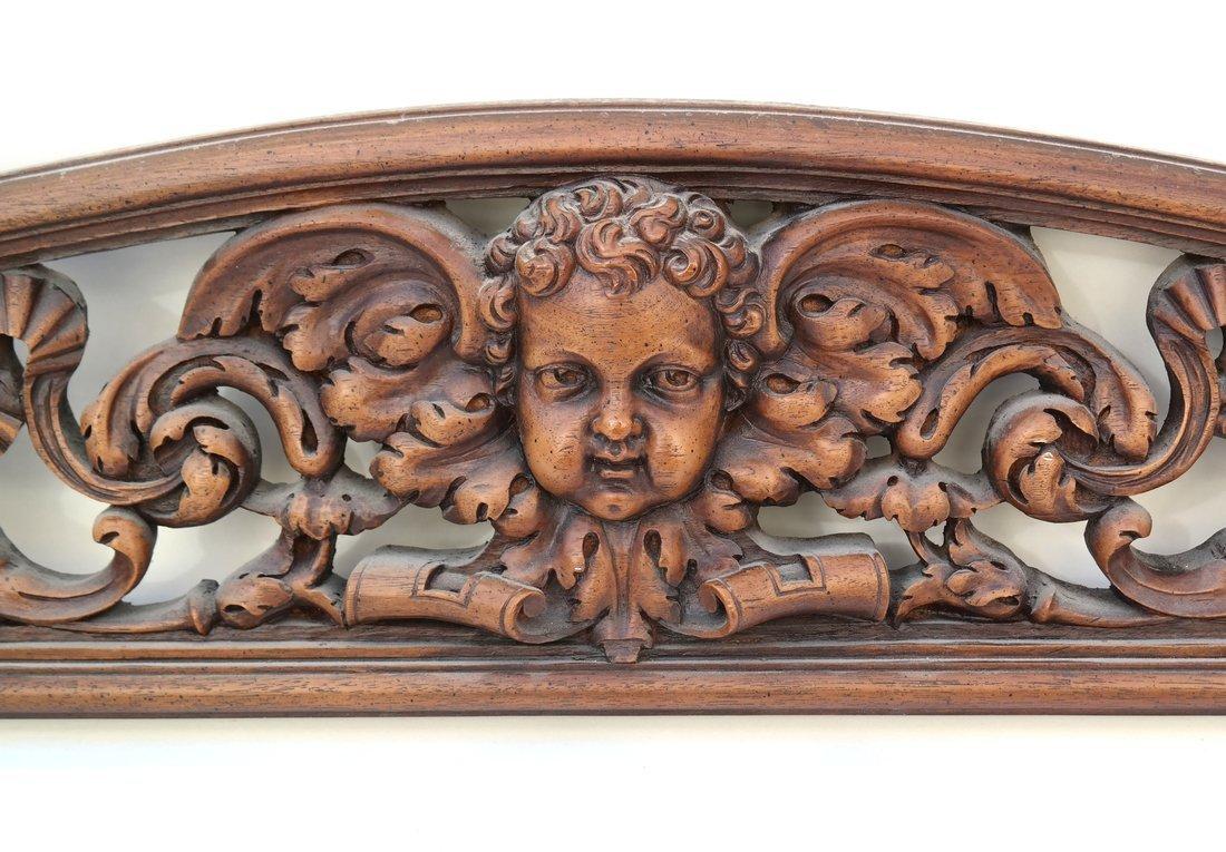 Baroque Style Pierced Shaped Transom - 2
