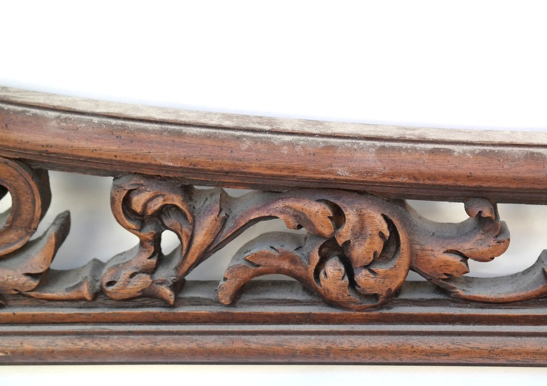 Baroque Style Pierced Shaped Transom - 4