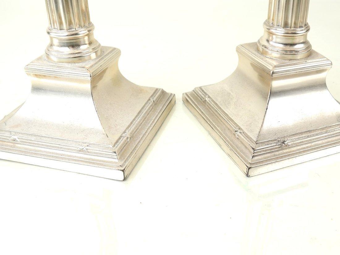 Pair German .800 Silver Candlesticks - 2