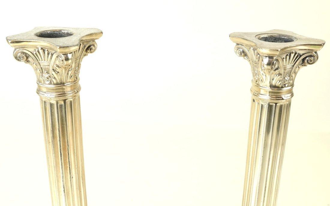 Pair German .800 Silver Candlesticks - 3
