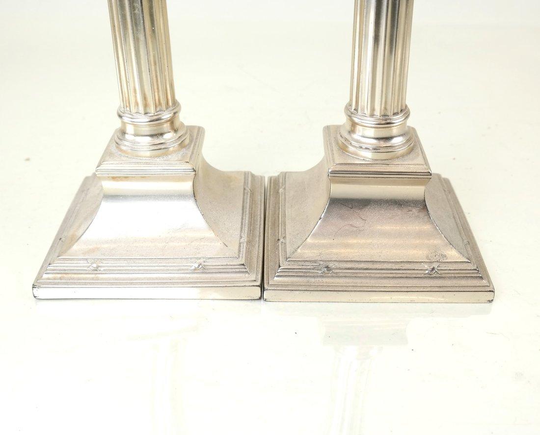 Pair German .800 Silver Candlesticks - 4