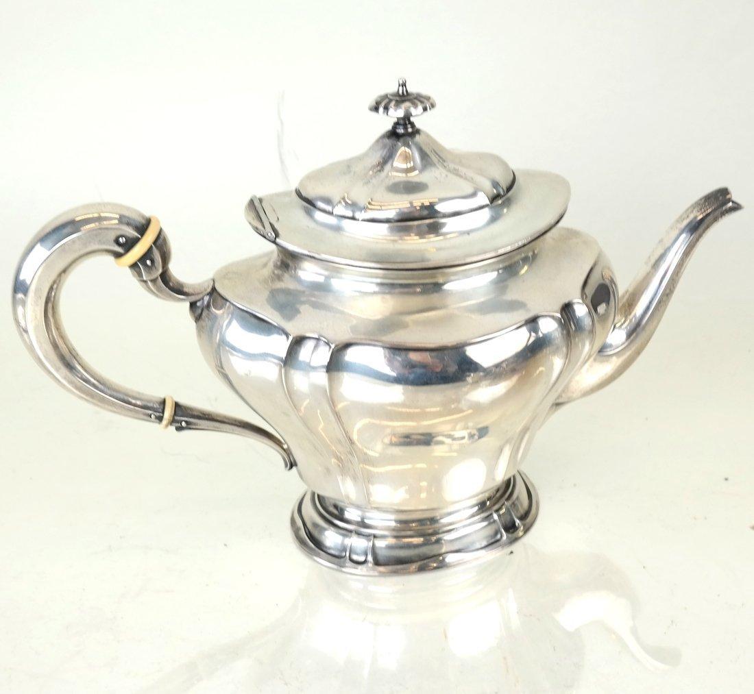 American Sterling Three-Piece Tea Set - 2