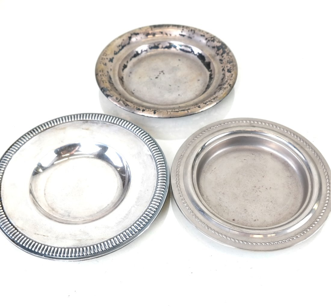 Ten Silver & Silver-Plated Small Dishes - 6