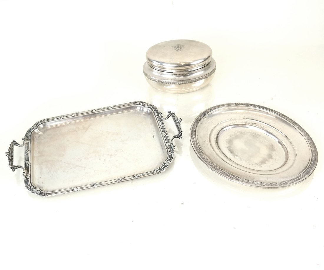 Three Continental Silver Table Articles