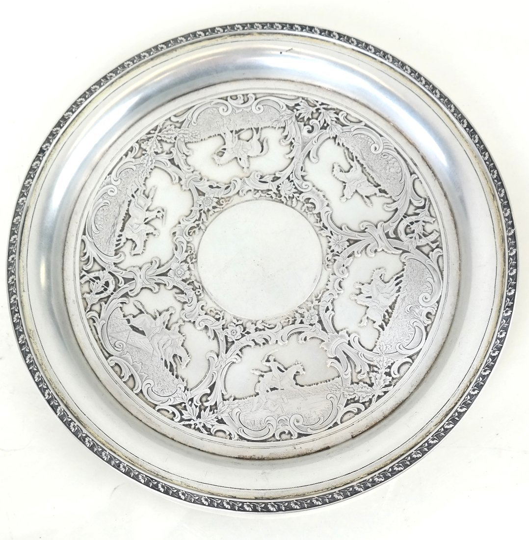 German .800 Silver Circular Small Tray - 2