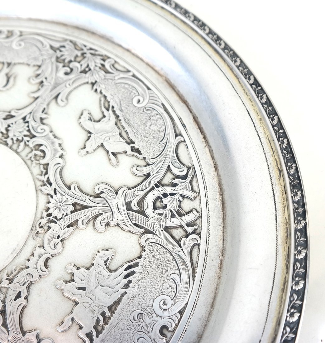 German .800 Silver Circular Small Tray - 3