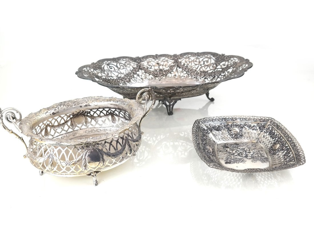 Three .800 Silver or Silver-Plated Items