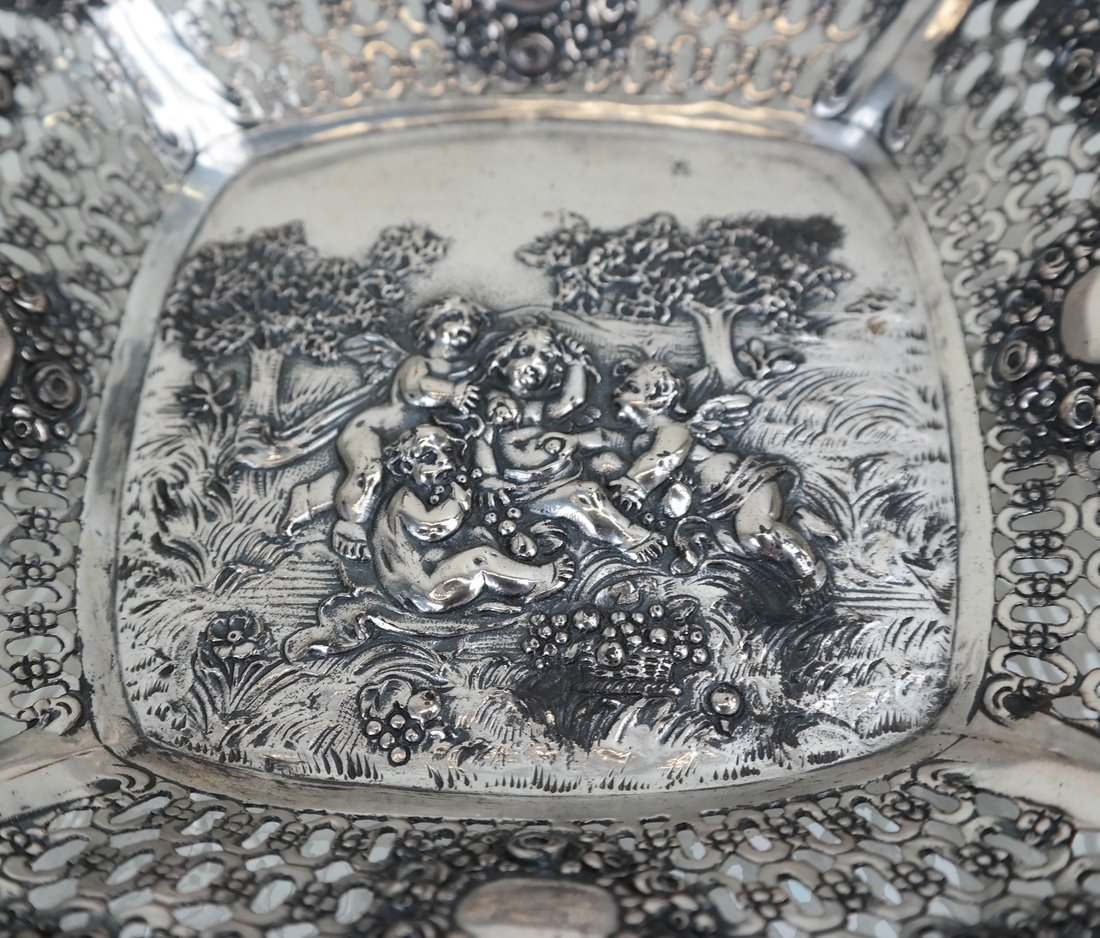 Three .800 Silver or Silver-Plated Items - 6