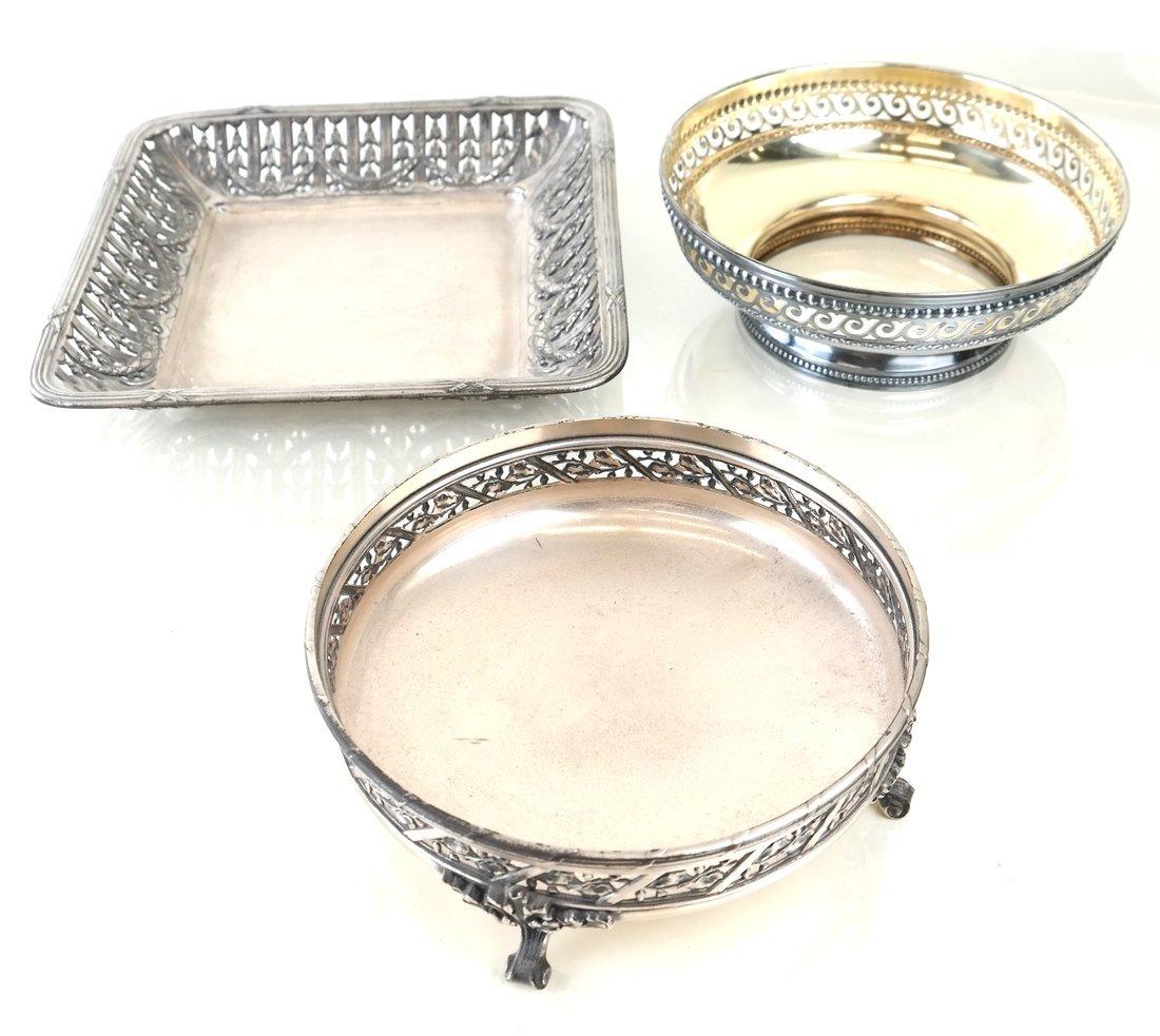 Three Various Continental Silver Items