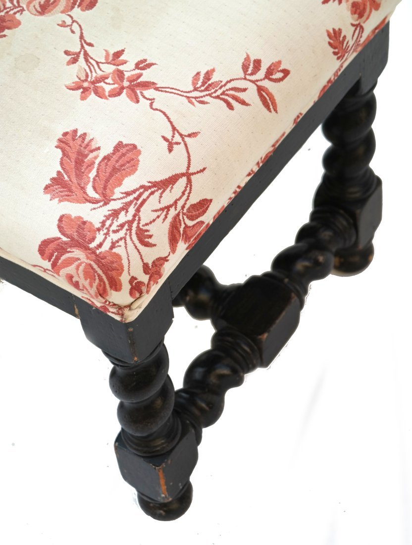 Pair William & Mary Style Square Stools - 4