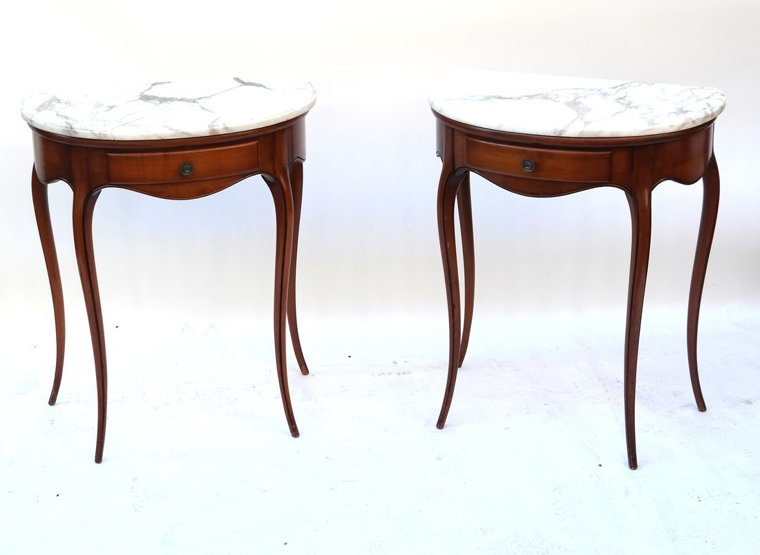 Pair Louis XV Provincial Style Tables