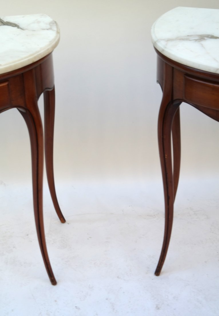 Pair Louis XV Provincial Style Tables - 4