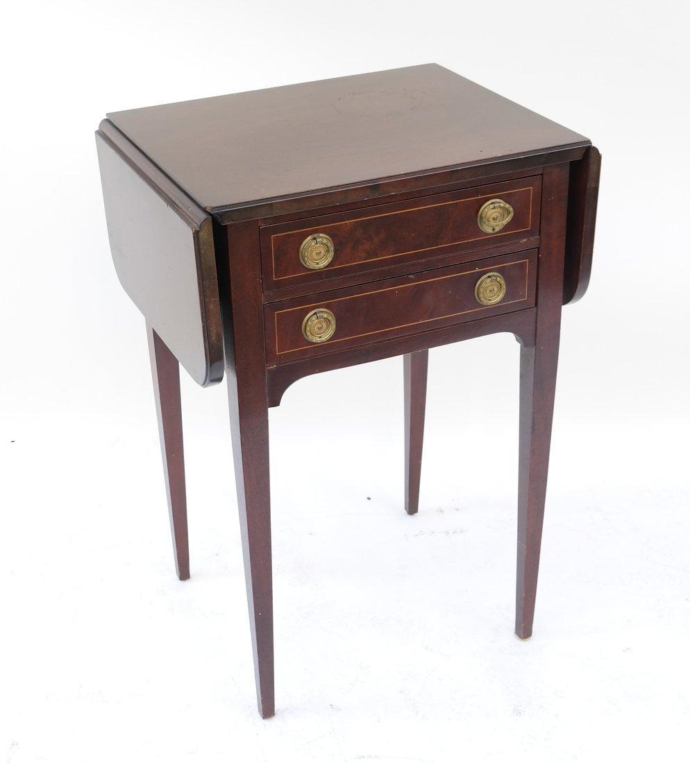 George III Style Mahogany Work Table