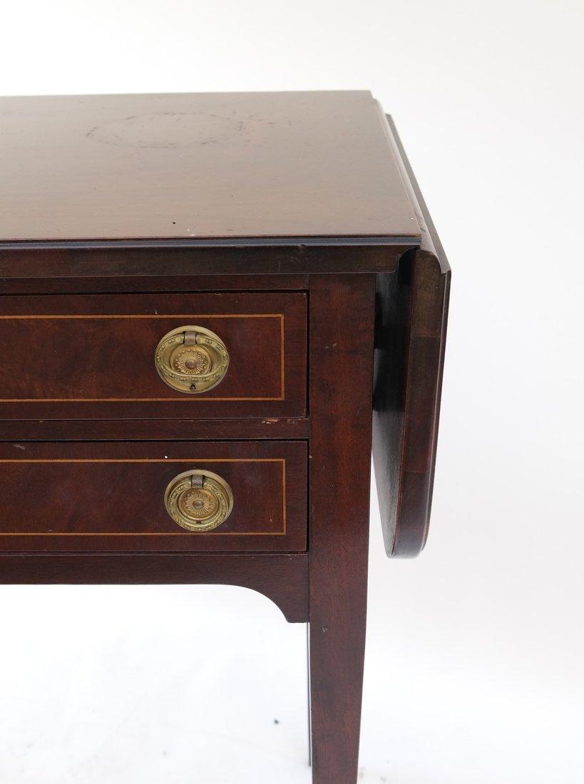 George III Style Mahogany Work Table - 2