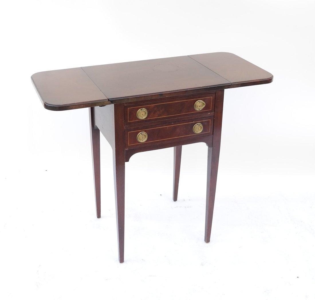 George III Style Mahogany Work Table - 3