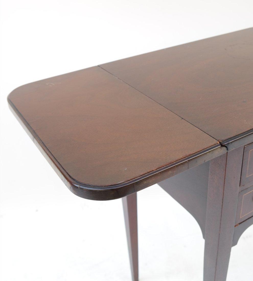 George III Style Mahogany Work Table - 4