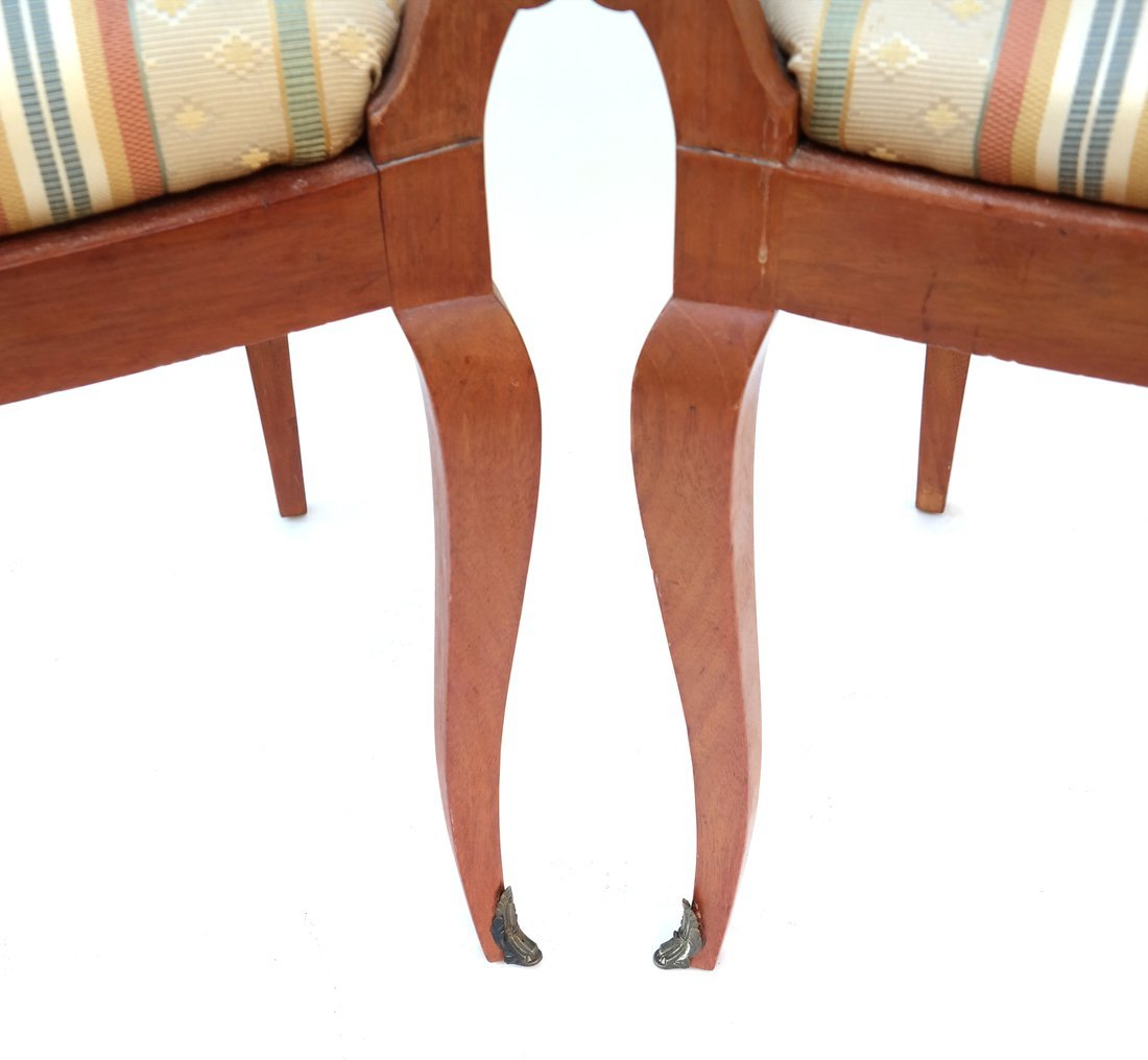 Pair Scandinavian Style Side Chairs - 2