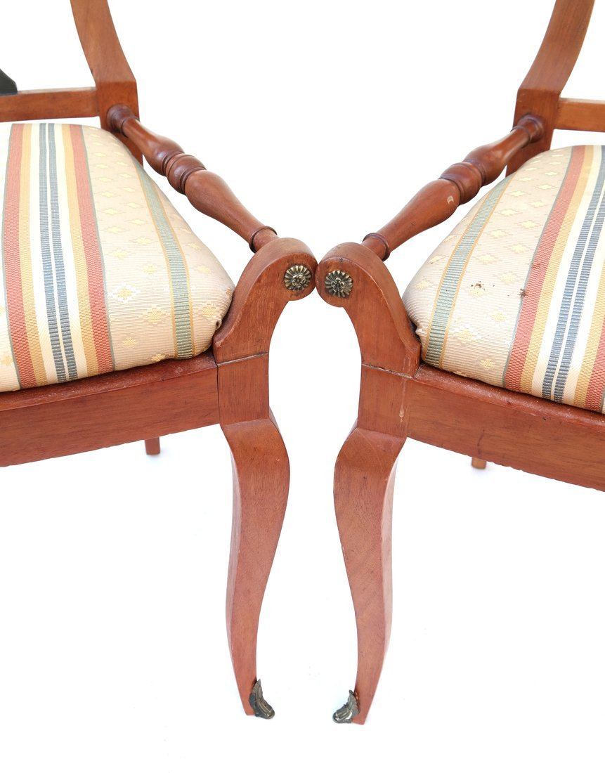 Pair Scandinavian Style Side Chairs - 3