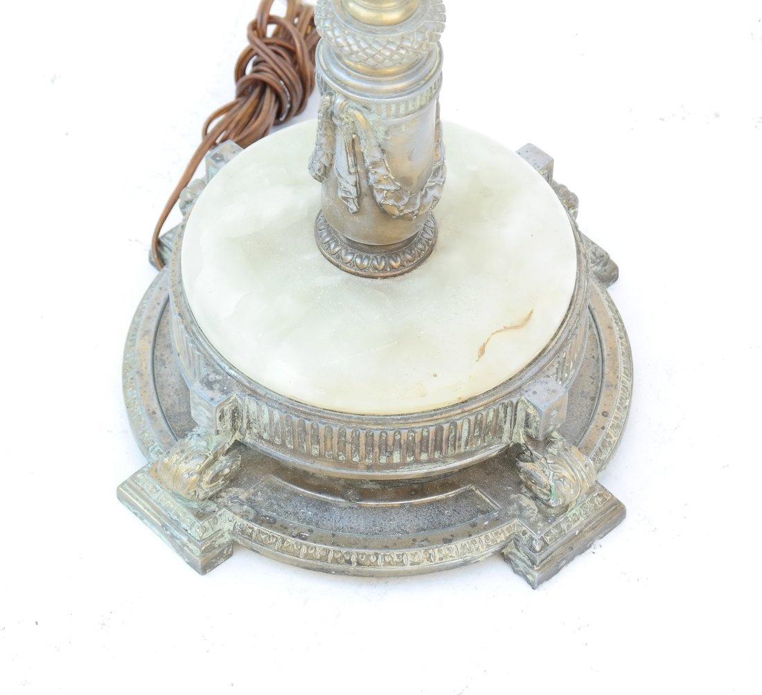 Edwardian Gilt Metal and Onyx Floor Lamp - 3