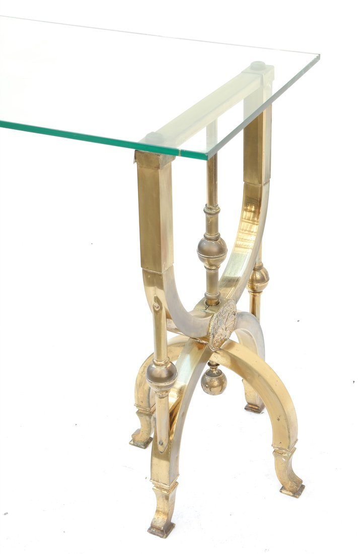 Brass and Glass Table - 4