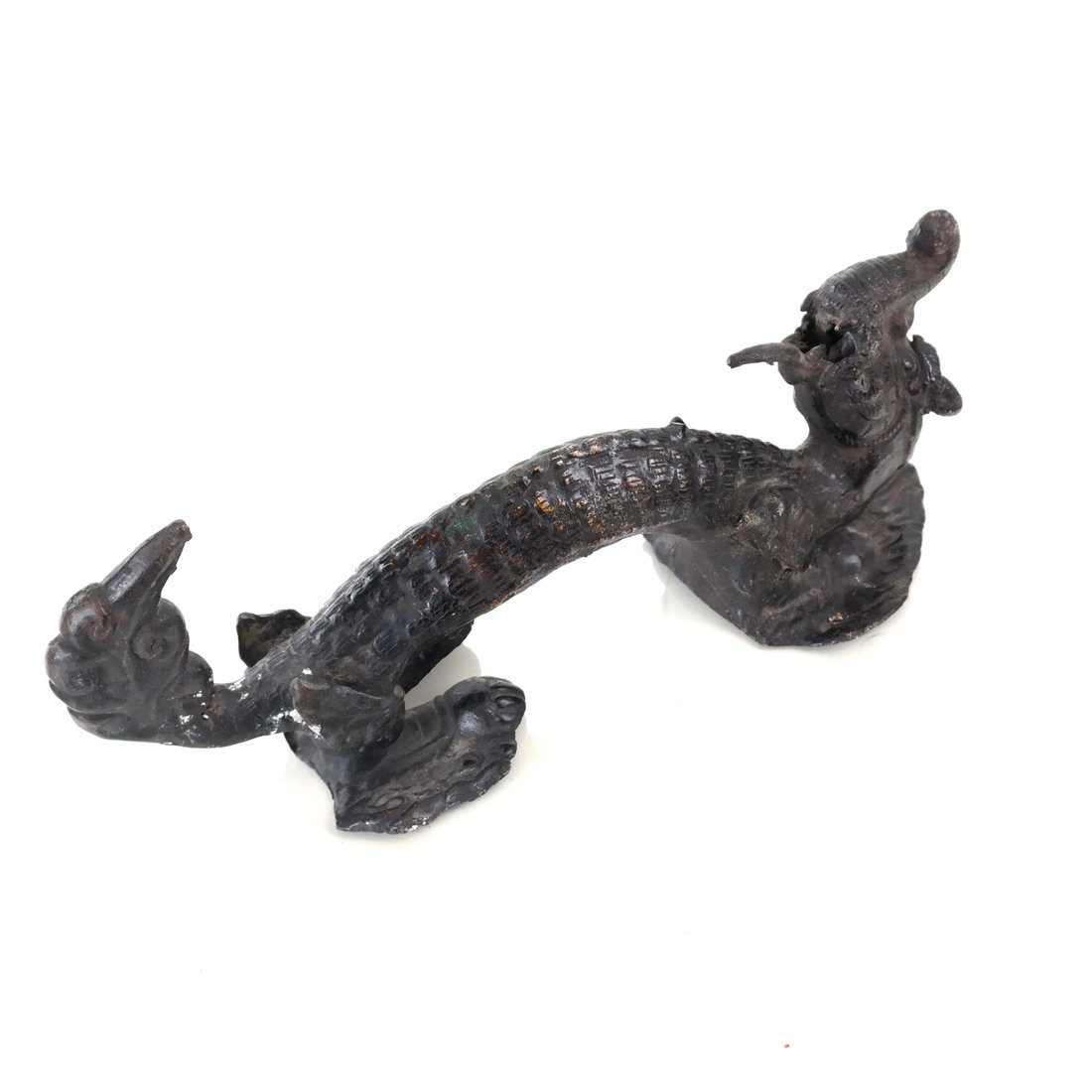Asian Bronze Dragon-Form Door Handle