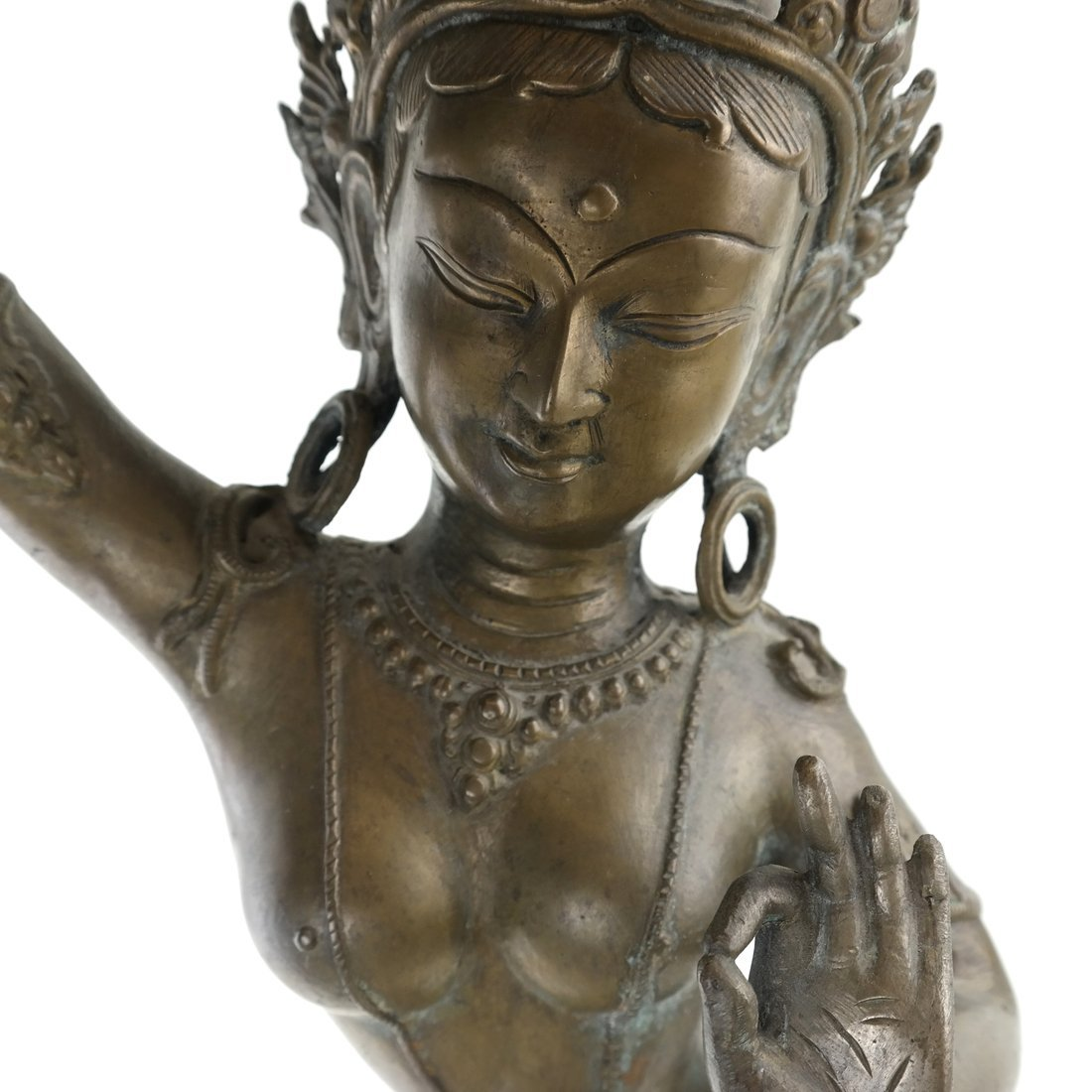 Asian Bronze Dancing Deity - 5