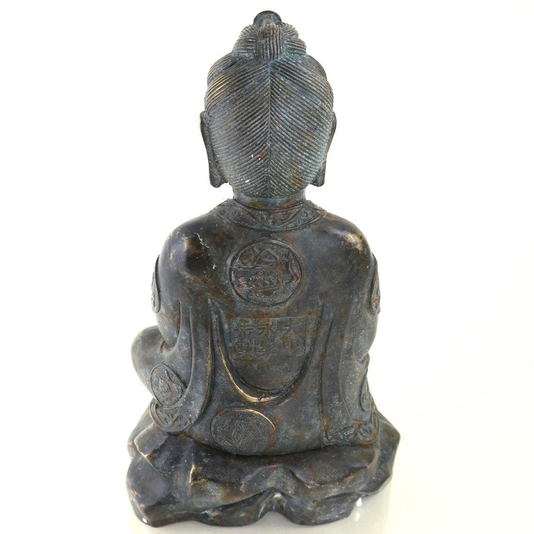 Chinese Bronze Seated Buddha - 6