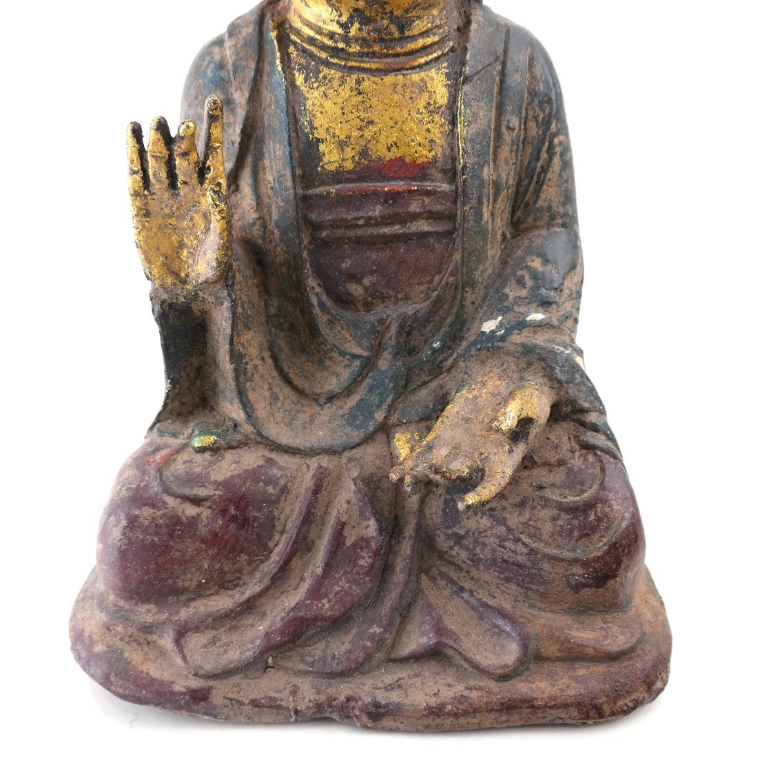 Asian Parcel Gilt Iron Buddha - 2