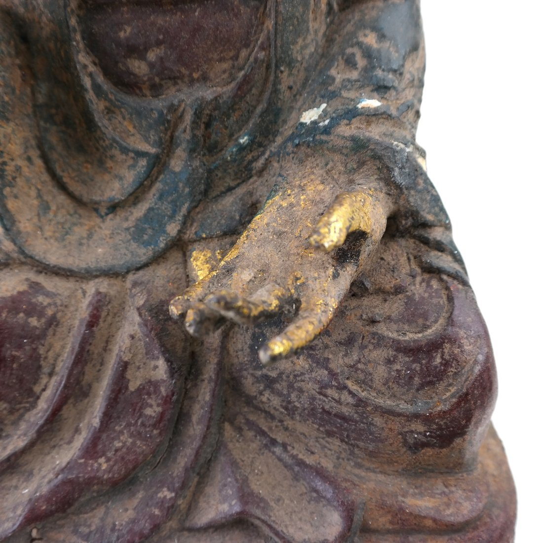 Asian Parcel Gilt Iron Buddha - 3