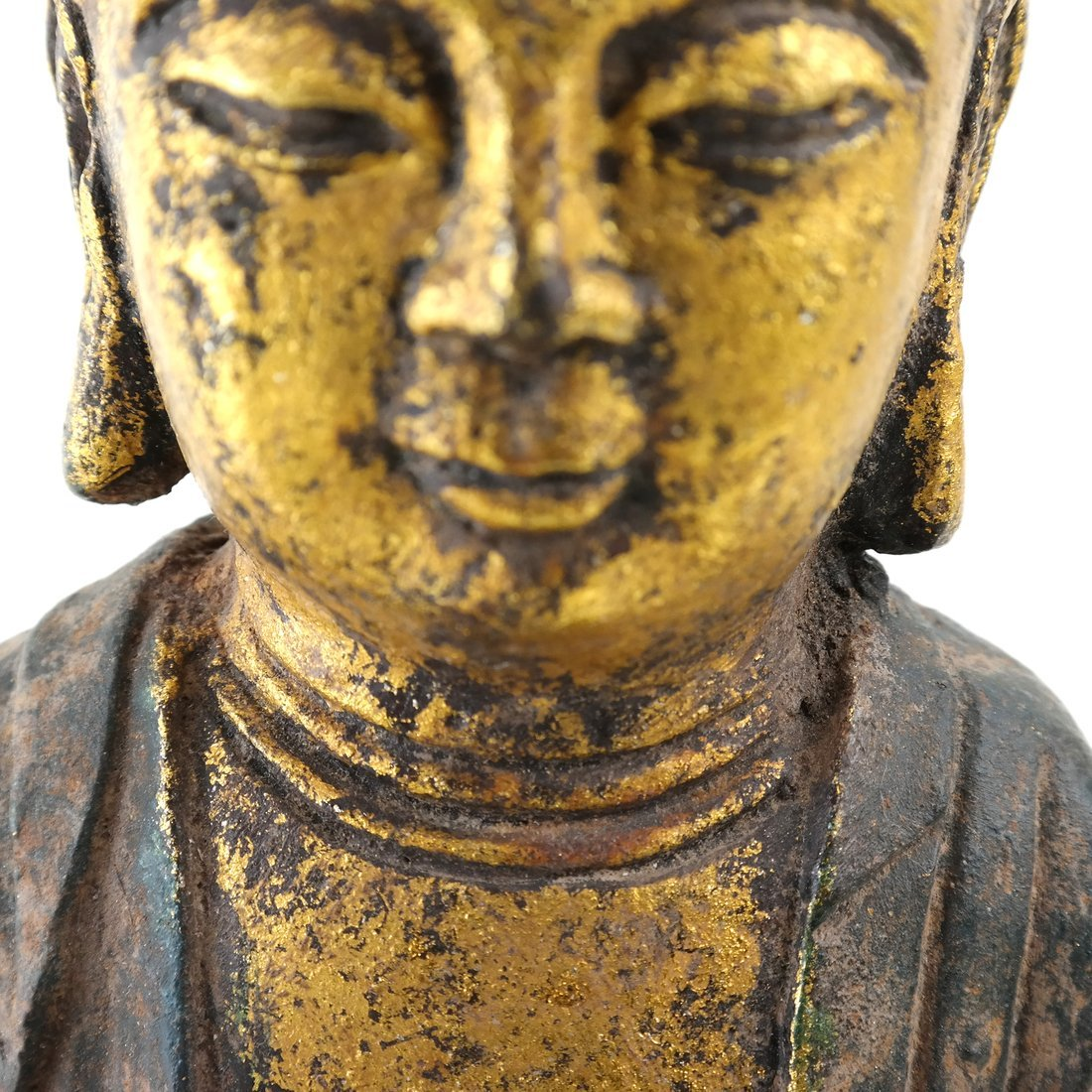 Asian Parcel Gilt Iron Buddha - 4