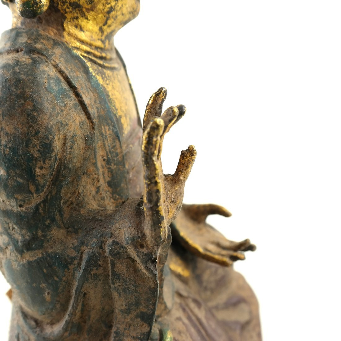Asian Parcel Gilt Iron Buddha - 7