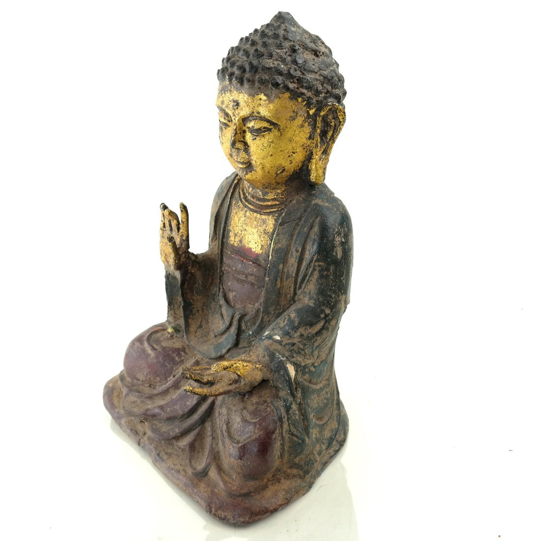 Asian Parcel Gilt Iron Buddha - 9