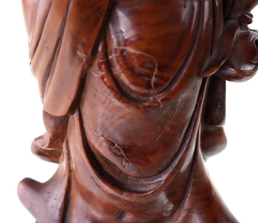Asian Carved Wood Figure of a Beauty - 7