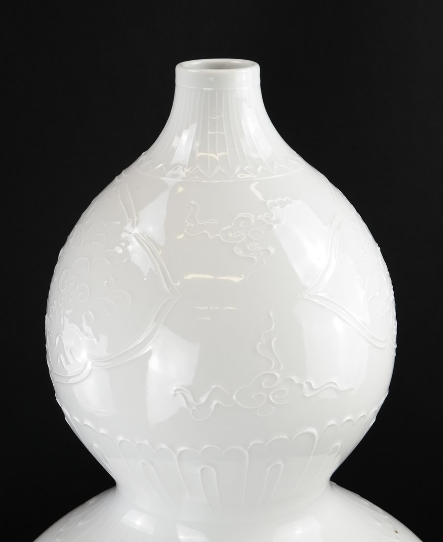 Chinese Blanc de Chine Double Gourd Vase - 2