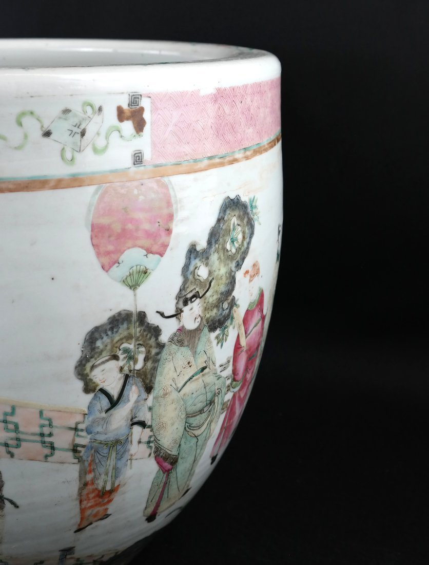 Chinese Famille Rose Porcelain Fish Bowl - 2