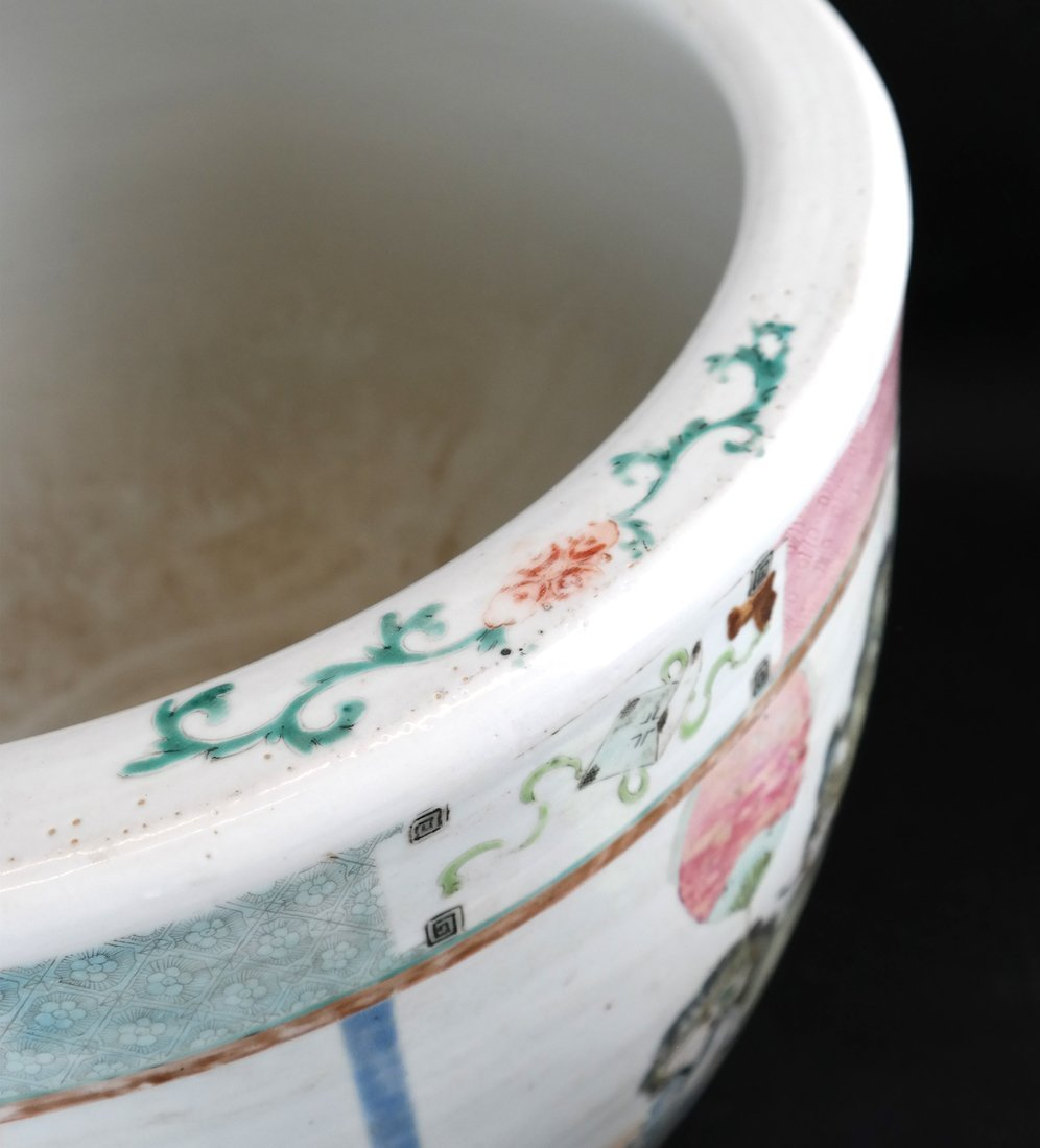 Chinese Famille Rose Porcelain Fish Bowl - 3
