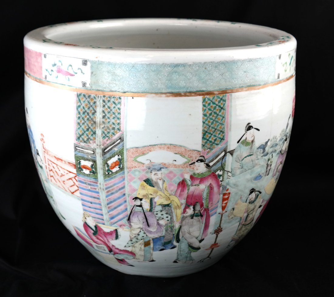 Chinese Famille Rose Porcelain Fish Bowl - 5