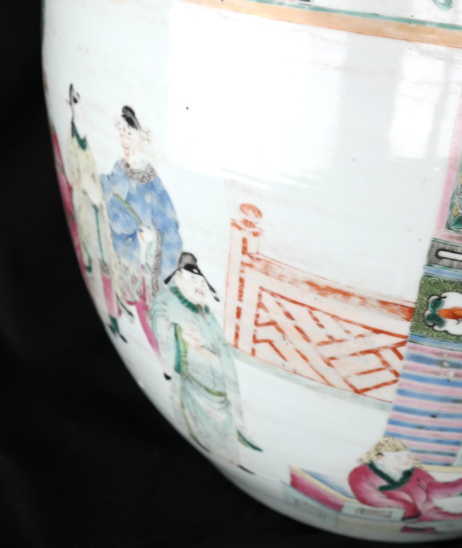 Chinese Famille Rose Porcelain Fish Bowl - 6