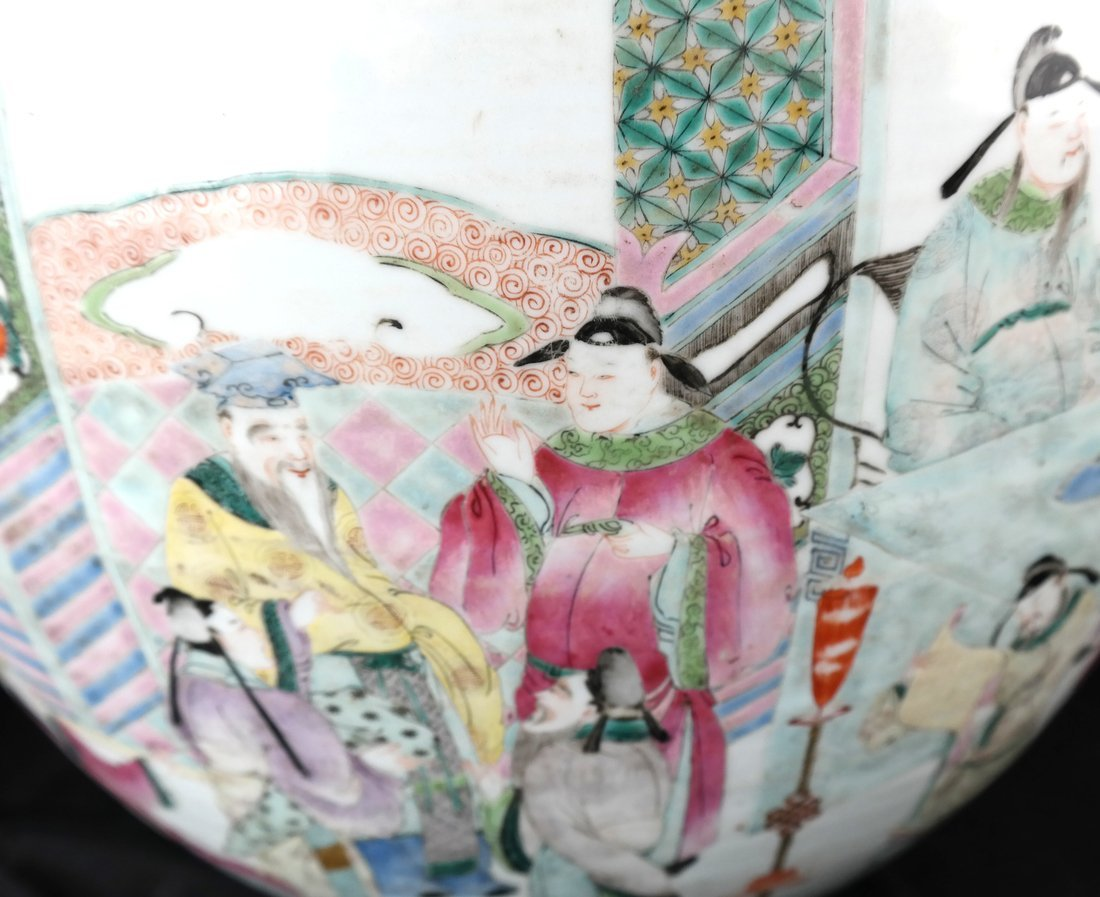 Chinese Famille Rose Porcelain Fish Bowl - 7