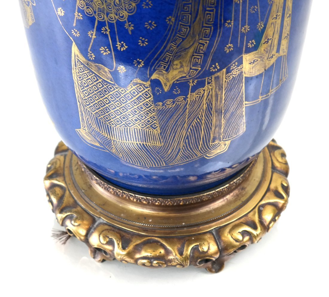 Chinese Export  Blue Porcelain Lamp - 6