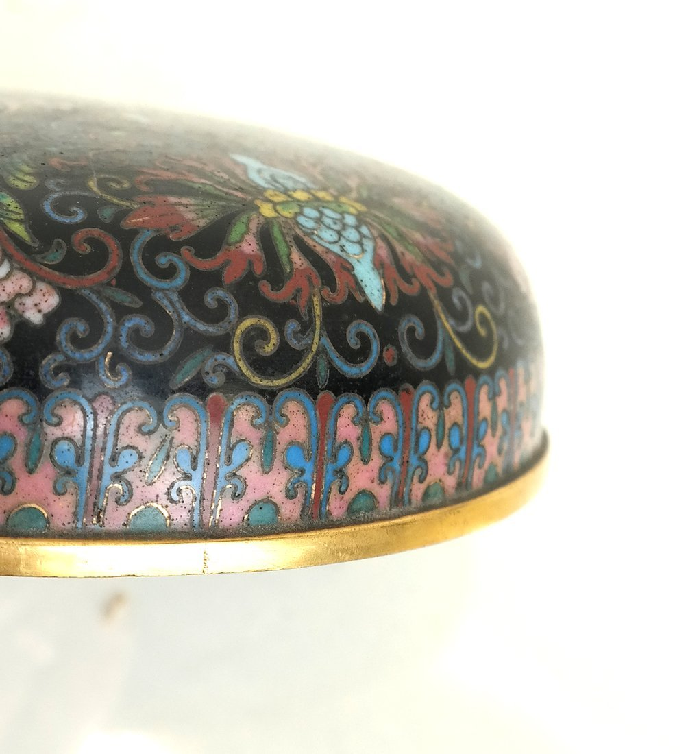 Chinese Cloisonne Circular Covered Box - 10