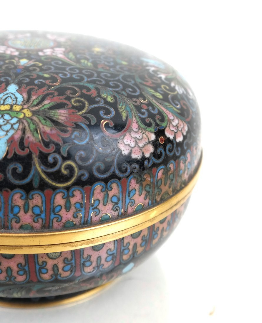 Chinese Cloisonne Circular Covered Box - 5