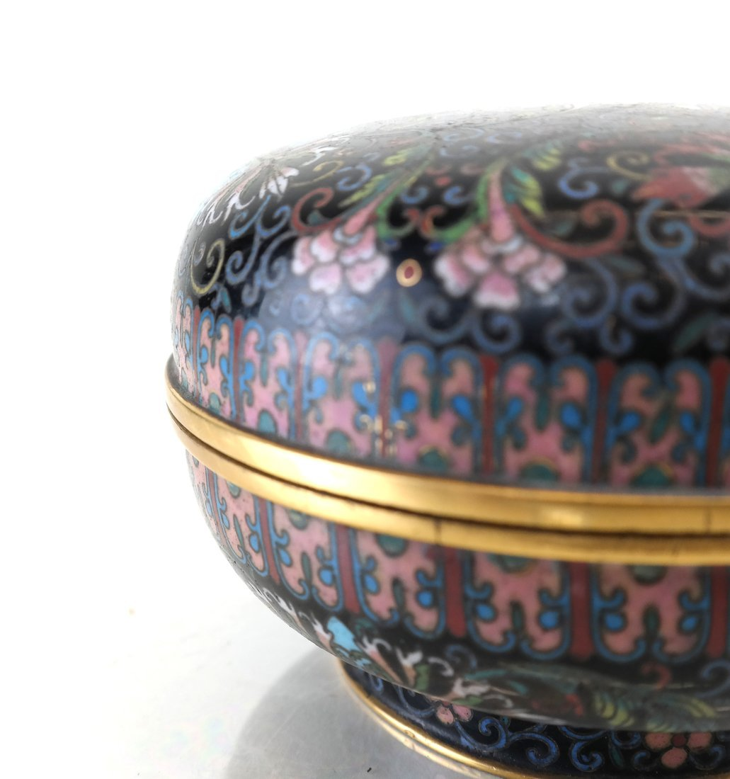 Chinese Cloisonne Circular Covered Box - 6