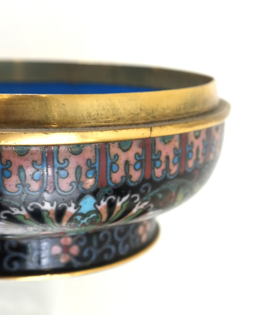 Chinese Cloisonne Circular Covered Box - 9
