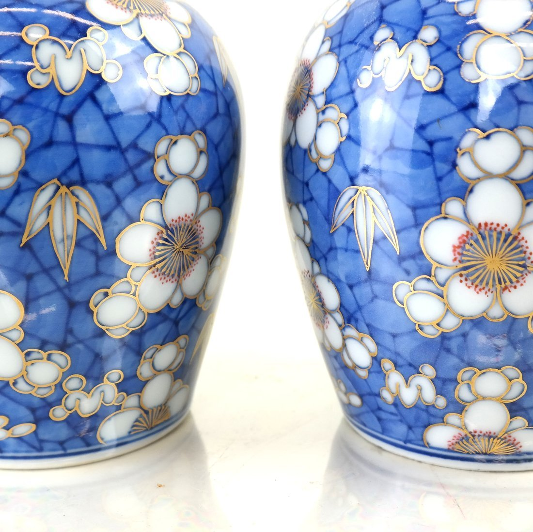 Pair of Chinese Export Porcelain Jars - 3