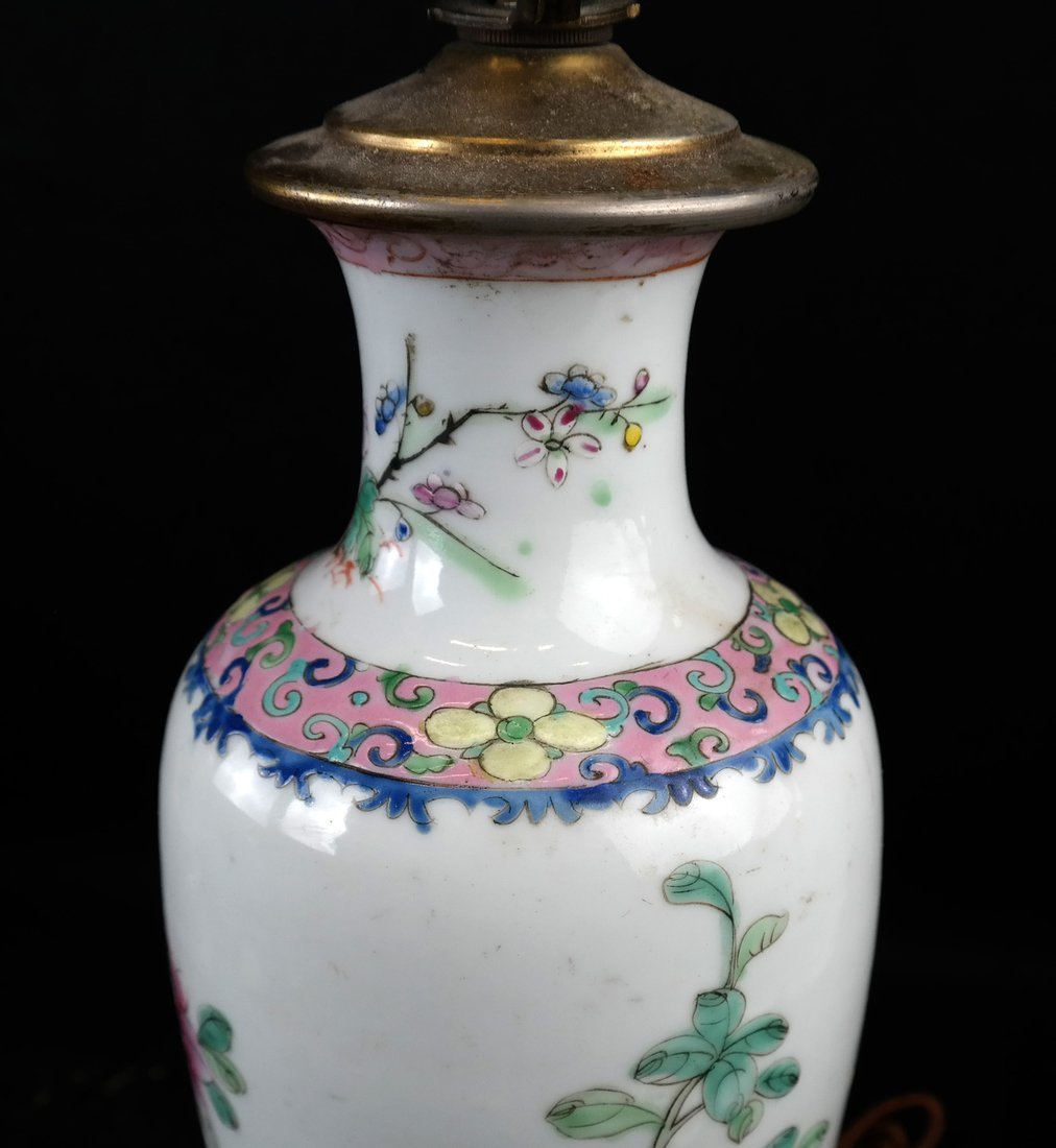 Two Chinese Porcelain Lamps and Another - 7